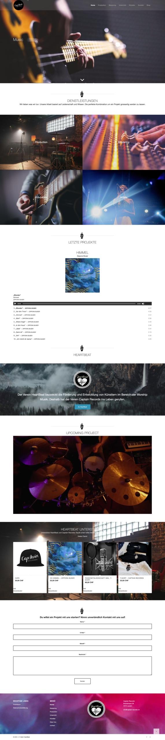 Website Captain Records